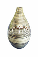 Bamboo with coconut vase for home, hotel decor
