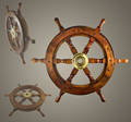 Carved Wooden Ship Wheel, Big wooden wheel, Decorative wooden wheel
