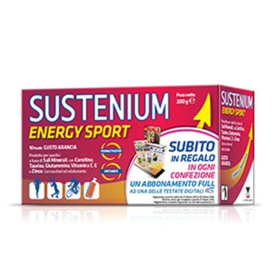 Menarini Sustenium Energy Sport Food Supplement 10 Sachets