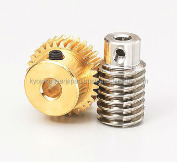 Small worm gear pair Module 0.5 Made in Japan KG STOCK GEARS
