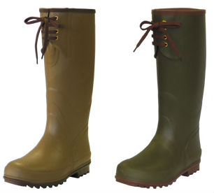 Barbarian Chieftain outdoor water absorbent anti bacteria rubber boots by Kohshin Rubber. Made in Japan (Long rubber boots)
