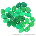 AAA green onyx faceted gemstone,wholesale oval cut stones for attractive silver jewelry