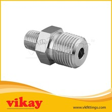 2.13.01 Stainless Steel Hex Reducing Nipple - NPT (M) x NPT (M) - S S Pipe Fittings from Vikay