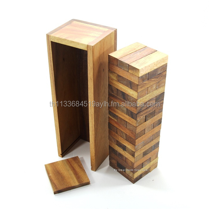 Jenga,Classic Wooden Games and Toys,Interlocking Puzzles,Brain Teasers,Educational Toys,Crafted Jigsaws