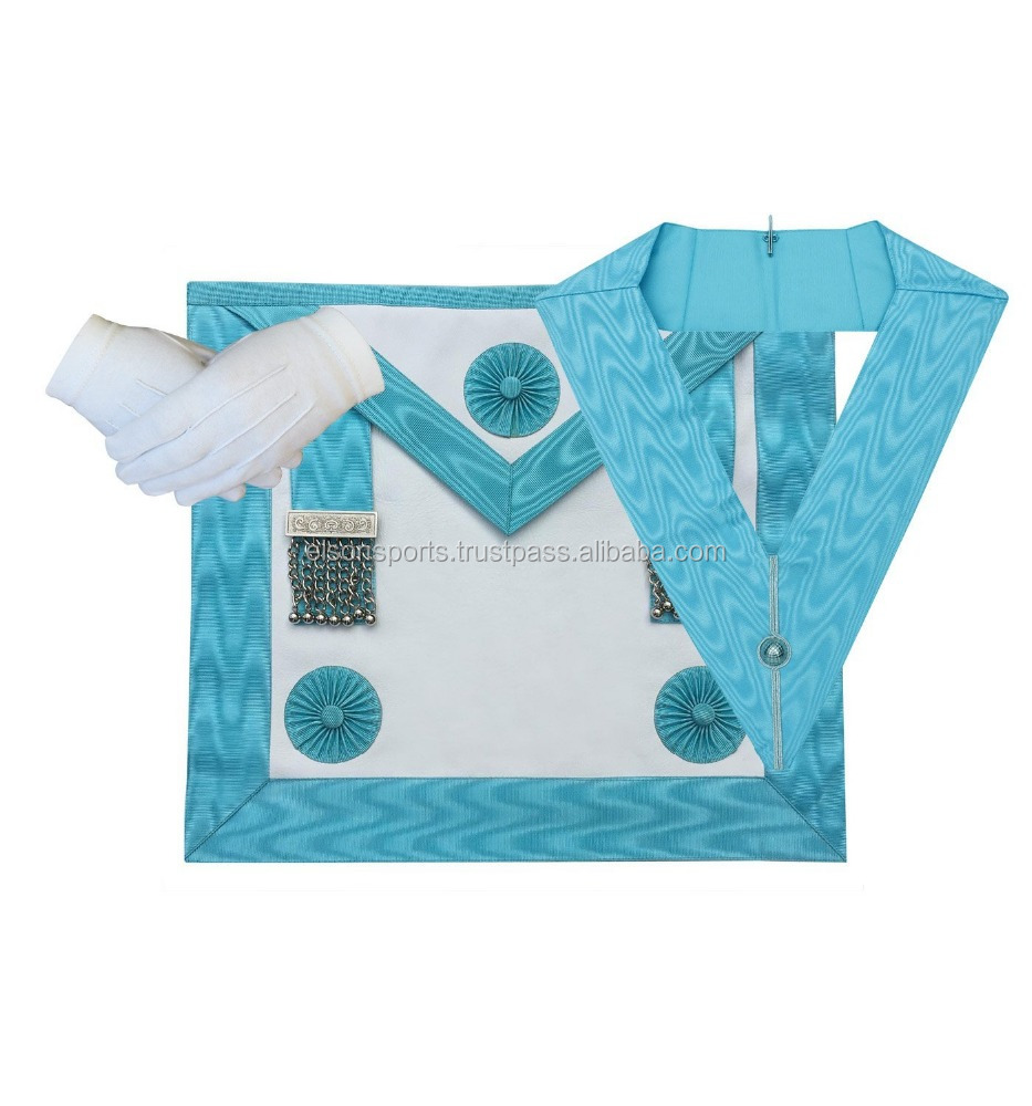 Master Mason MM Apron,Gloves and Officer collar