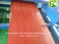 high quality wholesale wood and marble patterns color coated aluminium coil