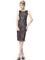 Charming Stylish Black Lace Short Summer Casual Pencil Dress HE05336 Mix Wholesale