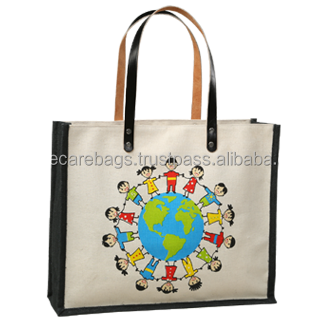 2016 promotional Natural jute tote shopping bag/purse/lady bag/slg/pouch