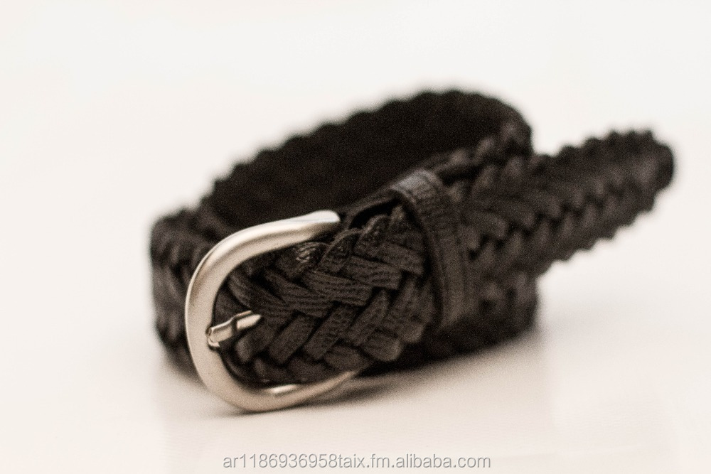 Fashion genuine cowhide braided leather belt