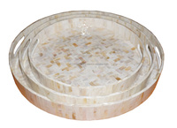 Best selling Lacquer MDF serving trays with Mother of pearl decoration for tableware accessories