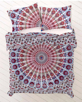 High Quality Low Price Washable Indian Quilt Duvet Cover Ethnic Quilt Covers Printed Doona