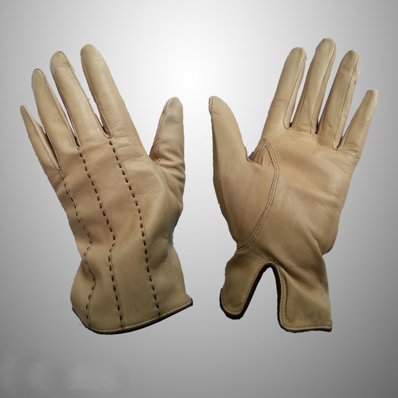 Winter Dress Golf Gloves with straps style from real leather