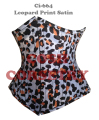 Leopard Print Satin Double Steel Boned Waist Training Curvy / Regular / Short / Extended Corsets Cincher Supplier