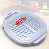 Grate & Stow Grater With Container - includes a multi-function stainless steel grater, clear plastic compact container and lid