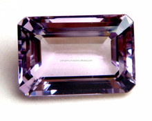 Natural Pink Amethyst Loose Semi Precious Faceted Octagon Cut Gemstone Supplier For Diamond Ring