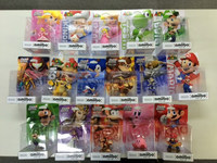 Various Amiibo figure for Wiiu game software with safe packing