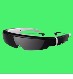 2017 No radiation full-color LCD micro-display augmented reality video glasses