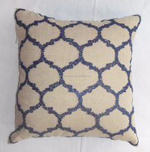Cushion Cover With Antique Beadwork