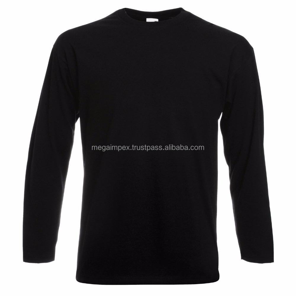 custom fashion tight fit long sleeve hood t shirt with zipper for long line men t shirts