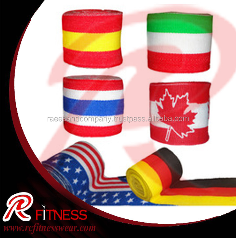Flag printed Boxing Hand wraps / Hand wraps, Mexican Style Hand Wrap Available In