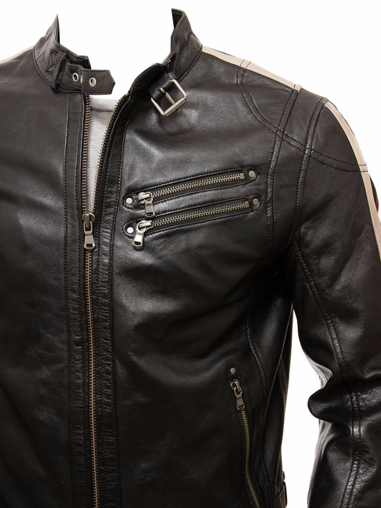 H&F Biker Fashion Design Soft Thin Leather Jackets For Men's, Fashion Jacket Sialkot Pakistan