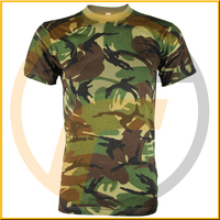 Hot selling camouflage woodland printed jersey short sleeve outdoor army military uniforms