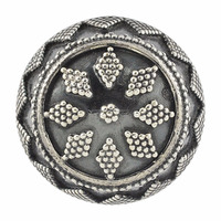 Floral Design Antique Traditional Oxidised Silver Designer Ring Party Wear Jewelry