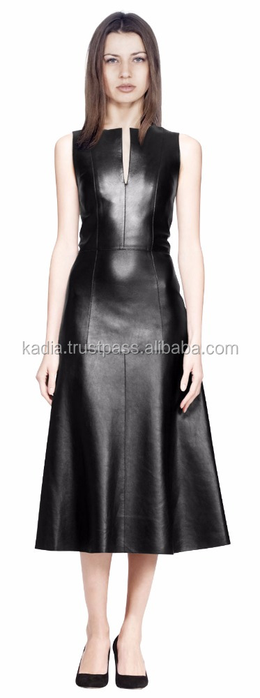 Ladies Fitted Leather Elite Dress