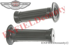 NEW 7/8'' HANDLEBAR GRIPS BLACK RUBBER CLOSED END UNIVERSAL MOTORCYCLE
