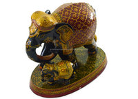 Handmade Kadam Wood with Fine Quality Embose Work baby elephant