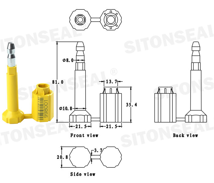 ST-1105 For Ocean Shipping Security Bolt Seals Suppliers In China