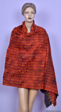 Indian Ethnic Hand Knitted Art Reversible Shawl Kantha Embroidered Work Shawls