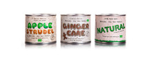 Popular Soy wax candles in tins; NATURAL, JASMINE, APPLE STRUDEL, Ginger Cake, light, relax, aroma, flameless candles