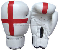 White artificial leather UK Flag printing gloves