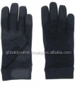 Police Ans Military Gloves Made of Front cowhide leather backside four-way Velcro closing