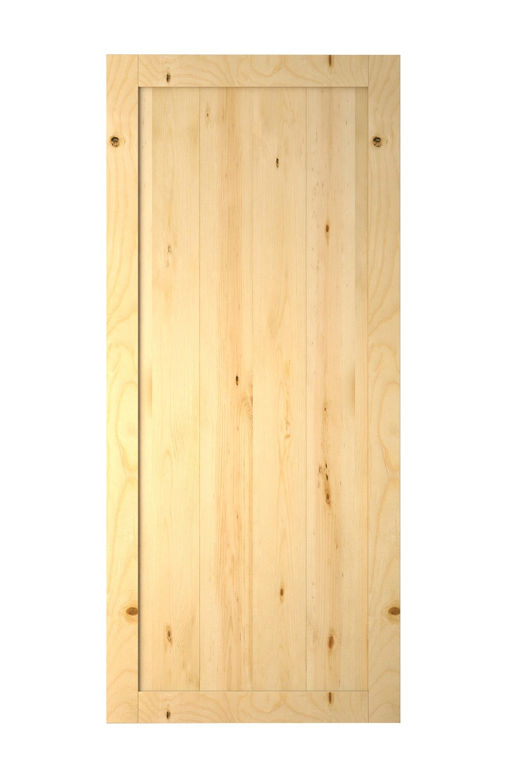 Full panel v groove modern wood door designs solid for Door design with groove