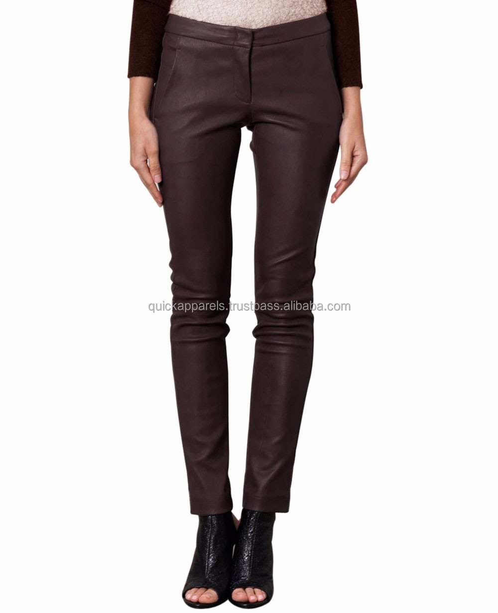 leather pants suppliers wholesale custom made womens leather pants baggy leather jogging pants
