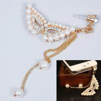 Wonderful Pearl Ball Crystal Mobile Phone Headset Dust Plug for Phone Cell Phone #62694