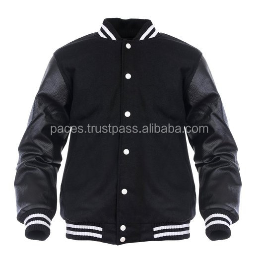 Custom All Wool Varsity College Jacket with Real Leather Sleeves/Q Logo Varsity Jacket/American Baseball Varsity Jacket From Pac