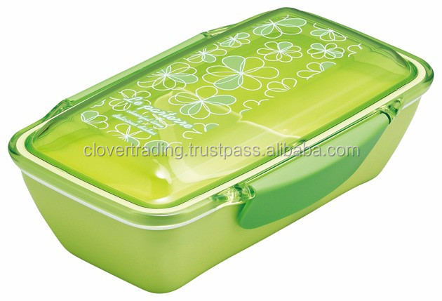 Le Parterre Dome Lunchbox 500ml Green Plastic