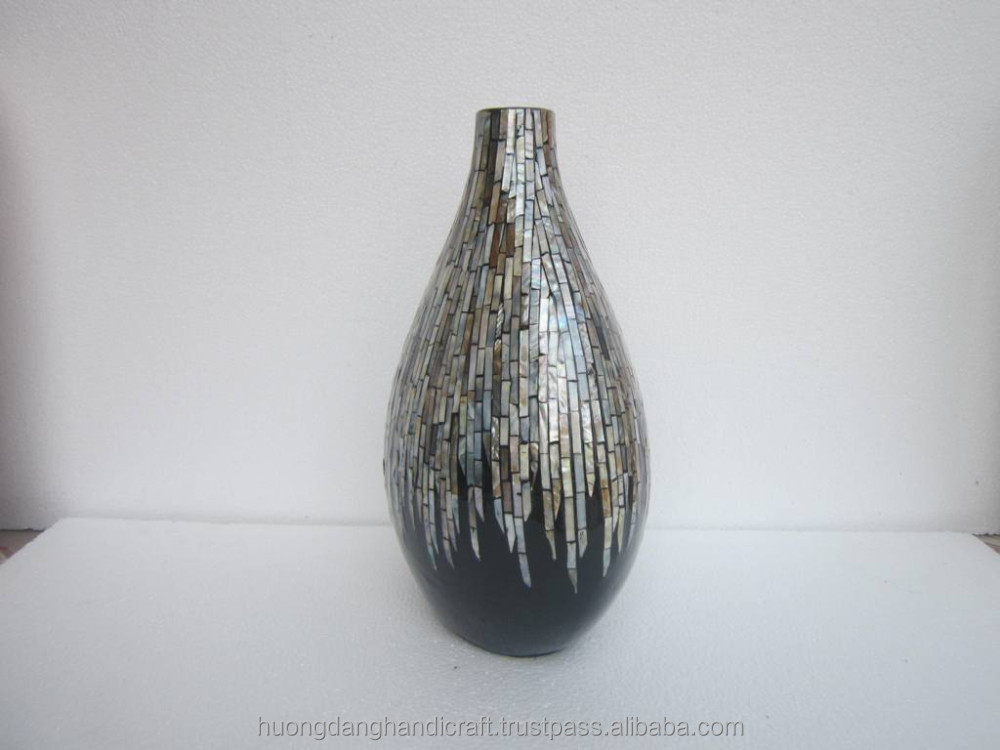 Vietnam style luxurious lacquer vase decorative items from Vietnam manufacturer