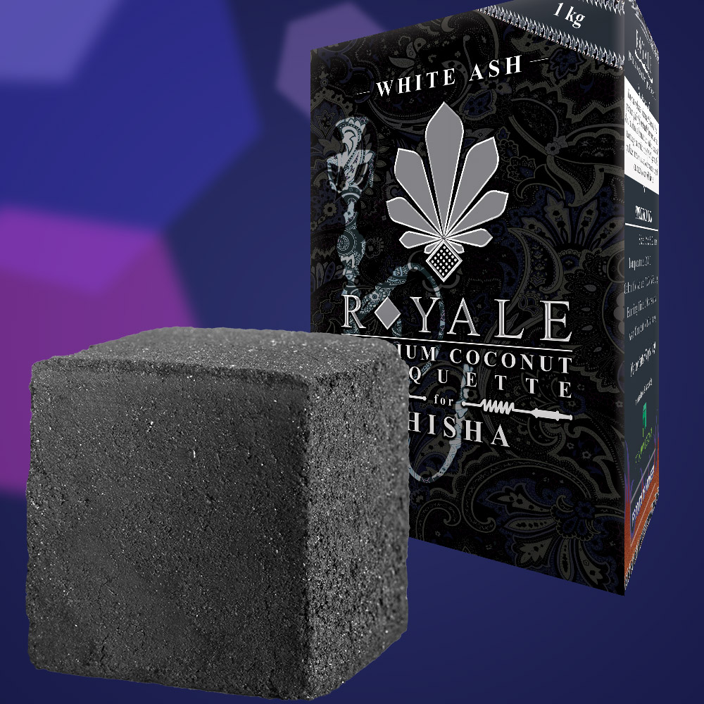 Low Grade White Ash Briquette Charcoal 25x25x25 mm (Middle East Market)
