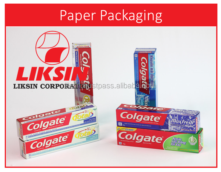Custom cardboard paper/ Holographic Toothpaste paper box packaging