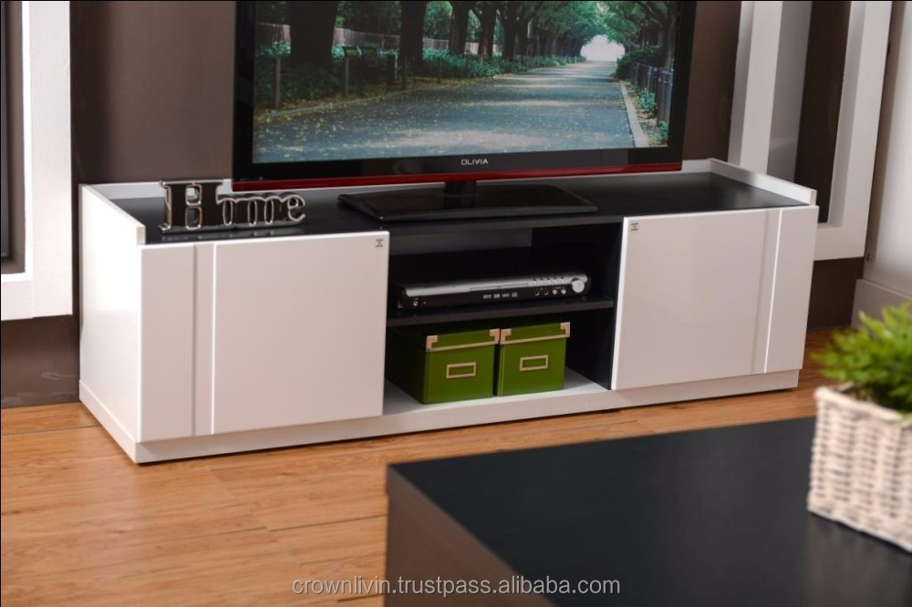 1.5 Meter Modern TV Cabinet Simple Style with 2 Doors (High Gloss) A669