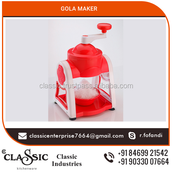 Attractive Looking Non Electric Slush Maker Made Out of Food Grade Plastic and Stainless Steel