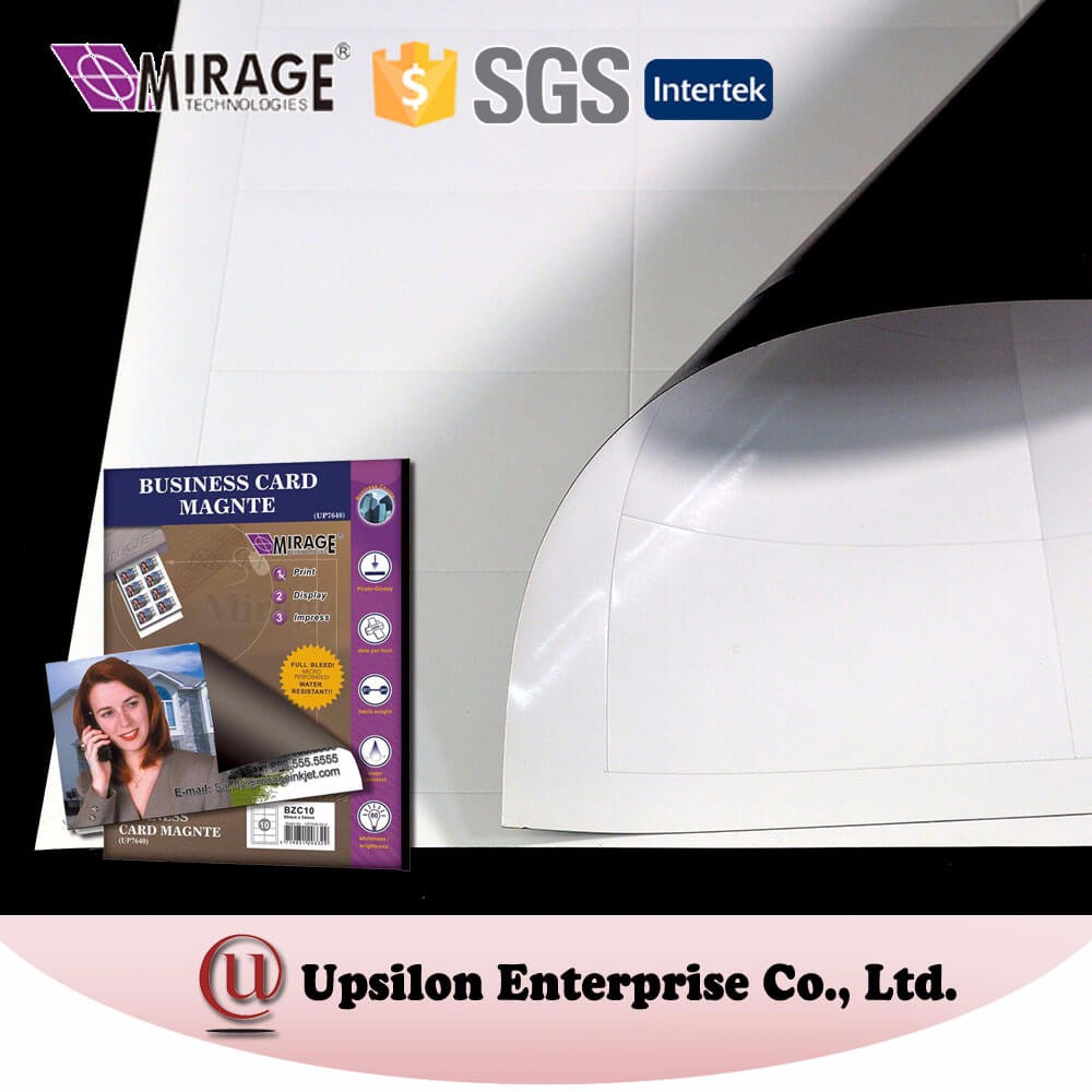 Inkjet 4x6 Size Business Card Magnetic Sheet