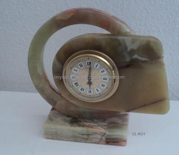 Onyx Vintage Style Desk Clock for Wholesale