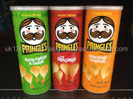 USA Pringles with all flavors and sizes