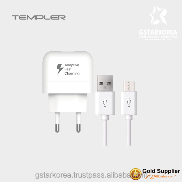 [TEMPLER] Wall Travel Charger 1port USB fast 9V/1.67A Output with type c cable for SmartPhone