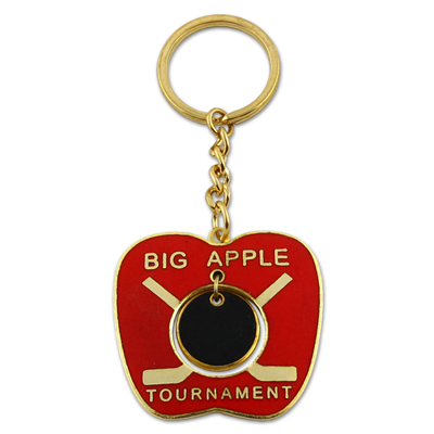 Cheap Iron Die Struk Custom Metal Key Ring with Enamel Colored